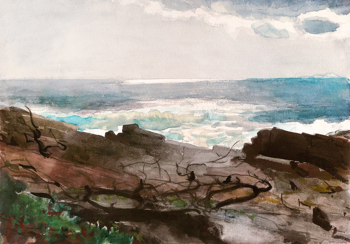 Sunshine and Shadow, Prout's Neck (1894) by Winslow Homer. Original from The Smithsonian Institution. Digitally…