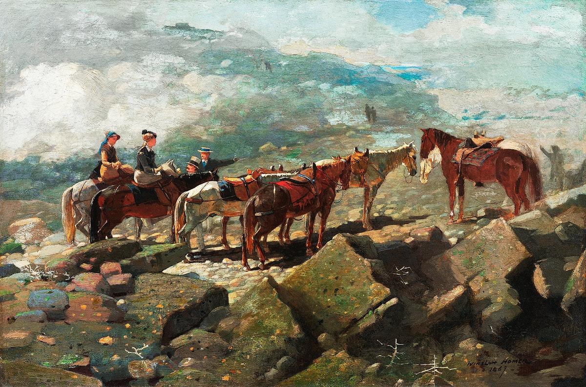 Mount Washington (1869) by Winslow Homer. Original from The Smithsonian Institution. Digitally enhanced by rawpixel.