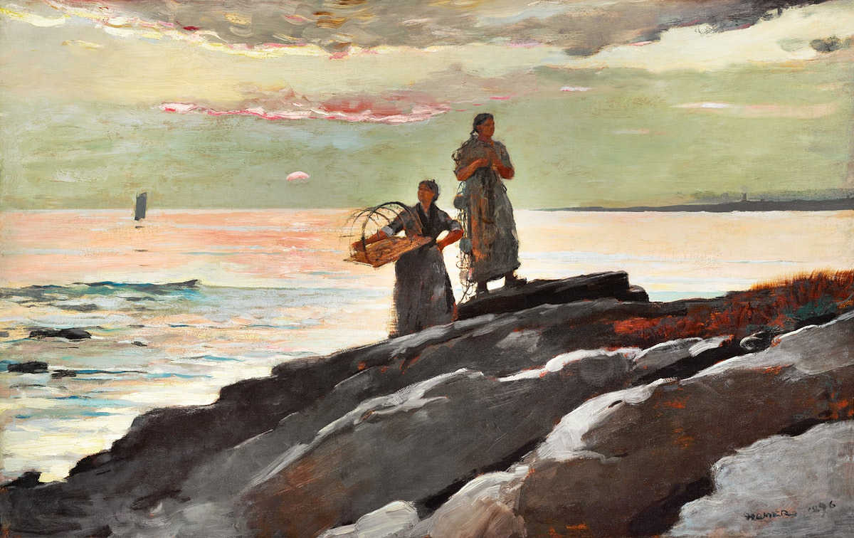Saco Bay (1896) by Winslow Homer. Original from The Clark Art Institute. Digitally enhanced by rawpixel.