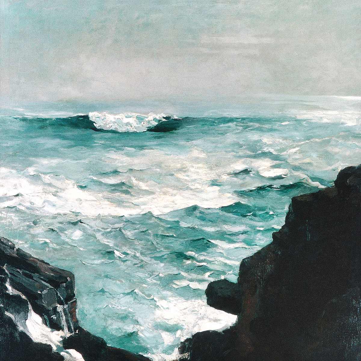 Cannon Rock (1895) by Winslow Homer. Original from The MET museum. Digitally enhanced by rawpixel.