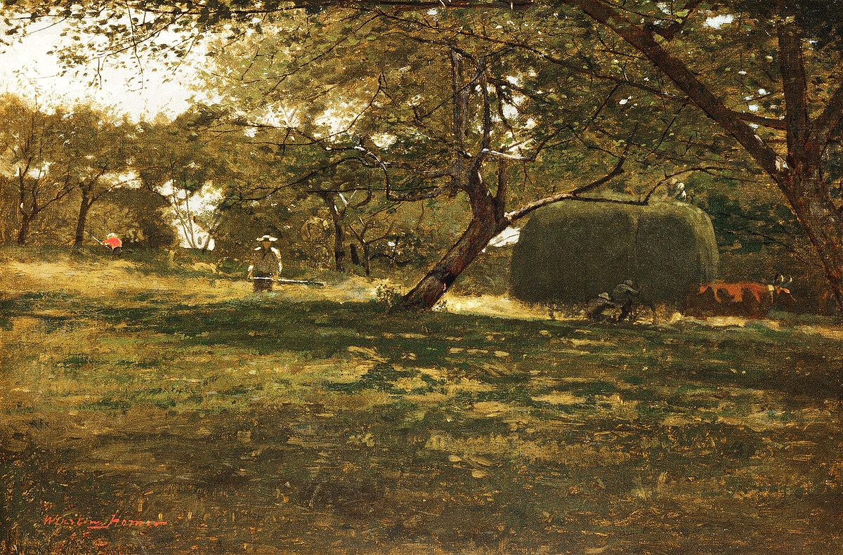 Harvest Scene (ca. 1873) by Winslow Homer. Original from The MET museum. Digitally enhanced by rawpixel.