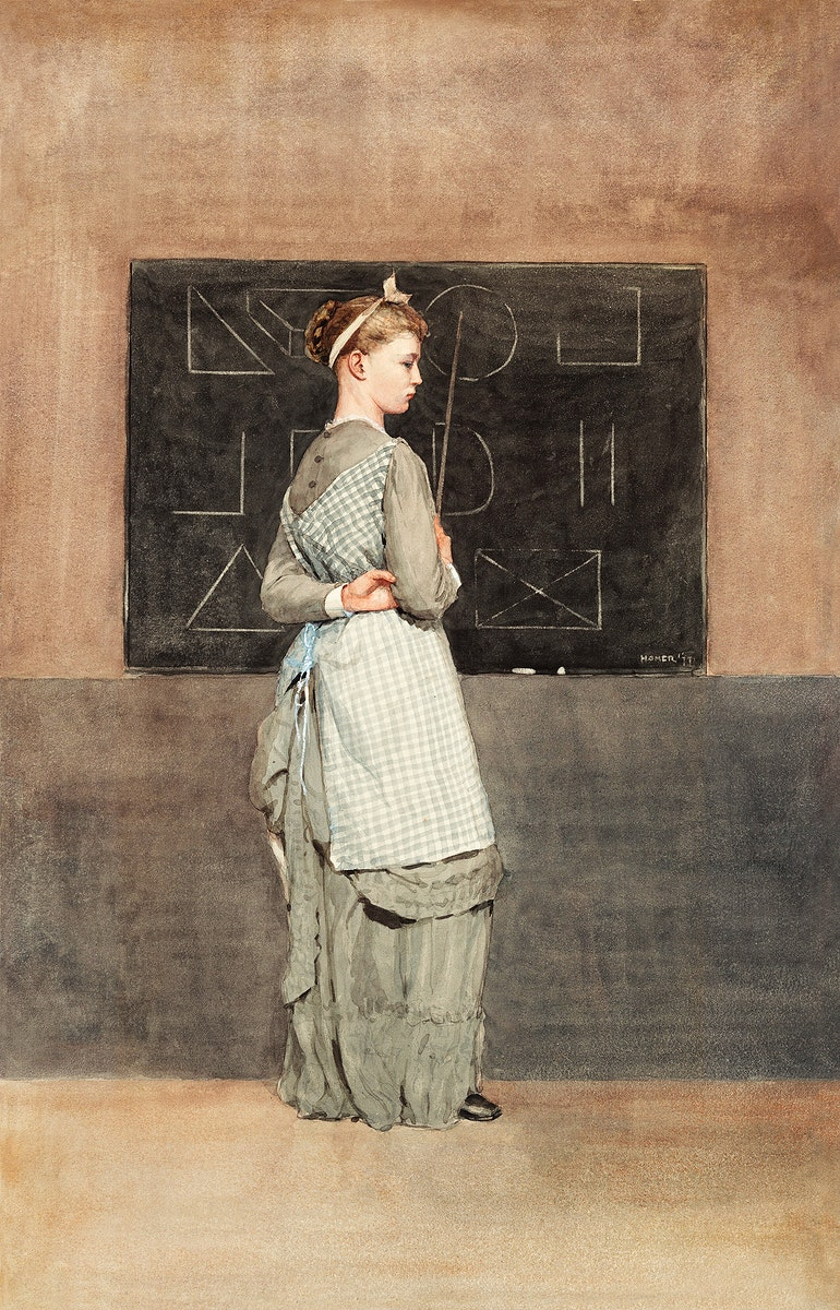 Blackboard (1877) by Winslow Homer. Original from The National Gallery of Art. Digitally enhanced by rawpixel.
