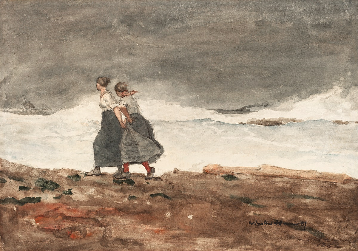 Danger (ca. 1883–1887) by Winslow Homer. Original from The National Gallery of Art. Digitally enhanced by rawpixel.
