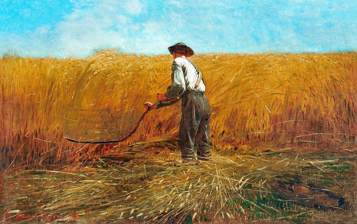 The Veteran in a New Field (1865) by Winslow Homer. Original from The MET museum. Digitally enhanced by rawpixel.