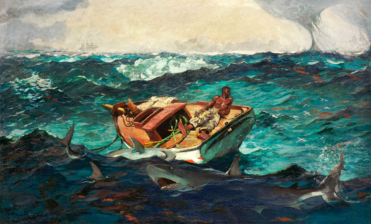 The Gulf Stream (1899) by Winslow Homer. Original from The MET museum. Digitally enhanced by rawpixel.