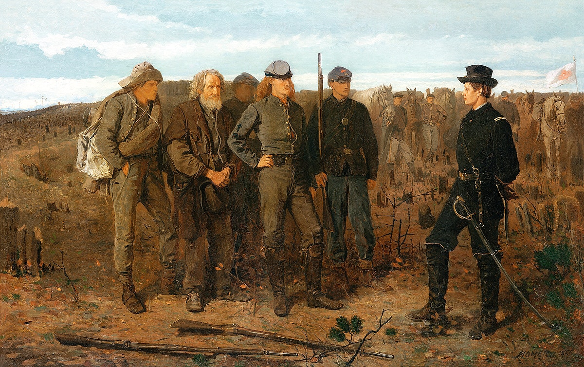 Prisoners from the Front (1866) by Winslow Homer. Original from The MET museum. Digitally enhanced by rawpixel.