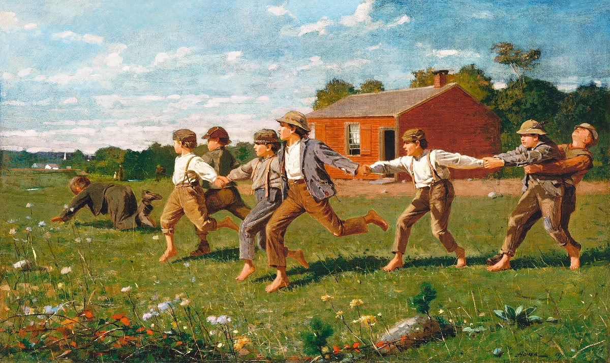 Snap the Whip (1872) by Winslow Homer. Original from The MET museum. Digitally enhanced by rawpixel.