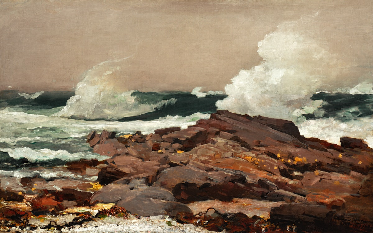 Eastern Point (1900) by Winslow Homer. Original from The Clark Art Institute. Digitally enhanced by rawpixel.