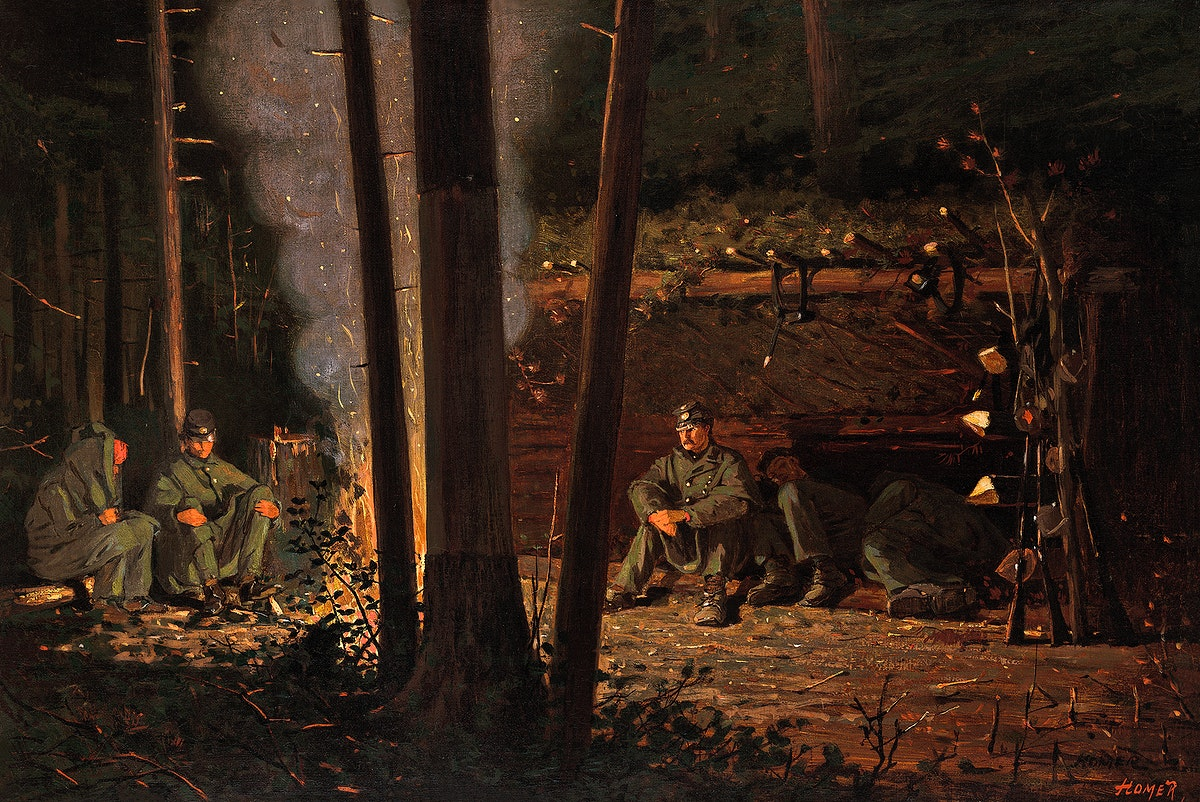 In Front of Yorktown (ca.1863–66) by Winslow Homer. Original from Yale University Art Gallery. Digitally enhanced by…