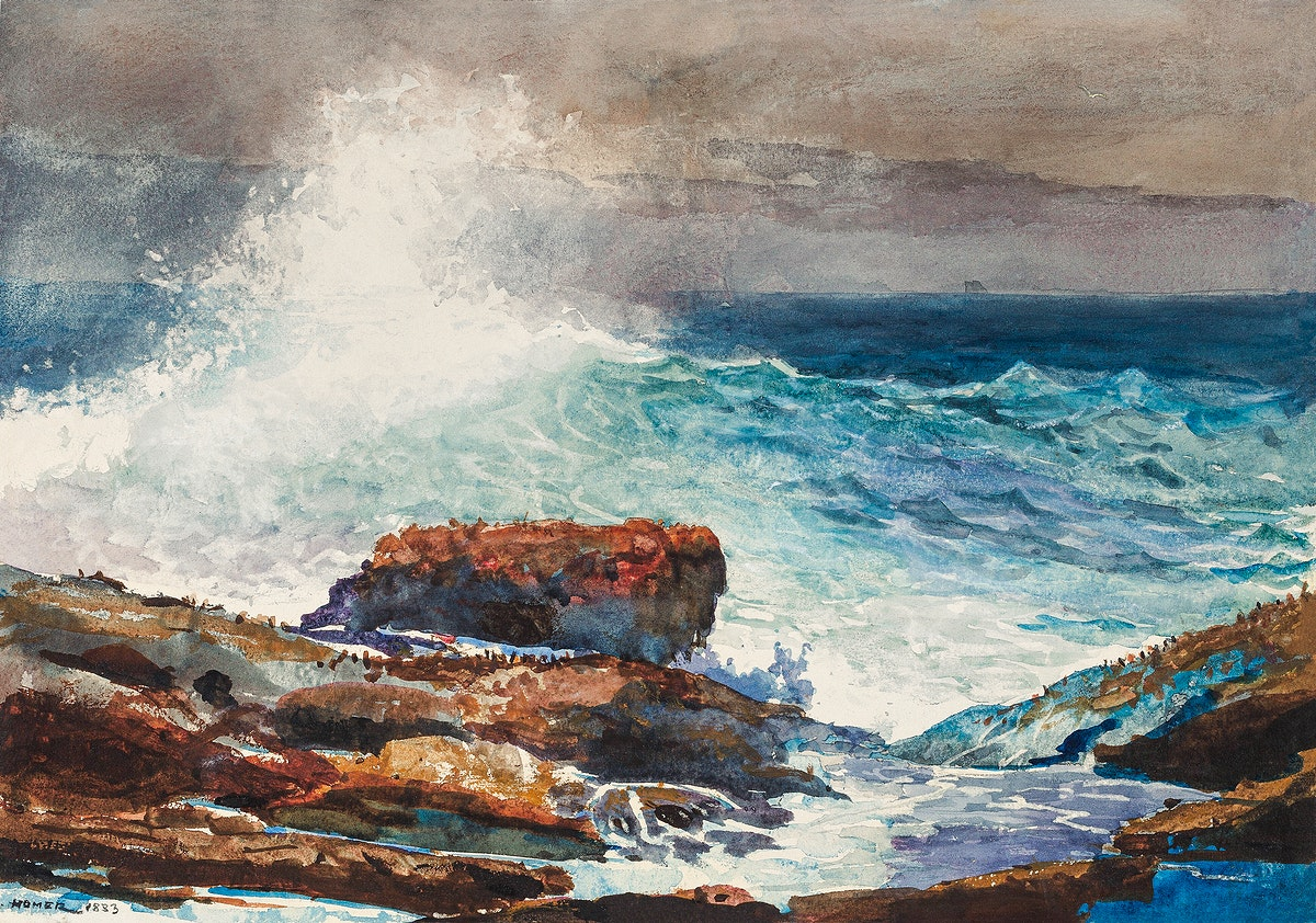 Incoming Tide, Scarboro, Maine (1883) by Winslow Homer. Original from The National Gallery of Art. Digitally enhanced by…