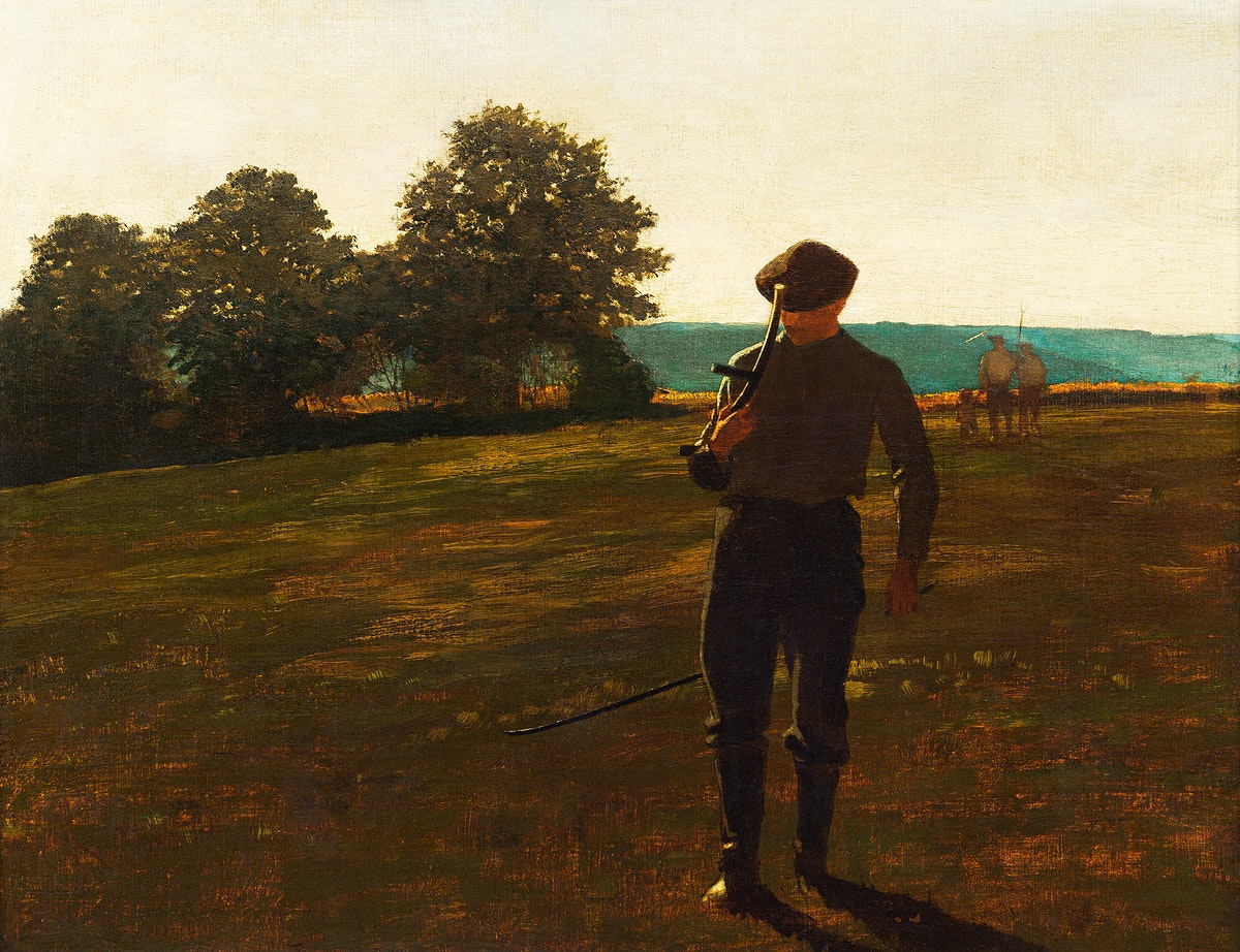 Man with a Scythe (ca.1869) by Winslow Homer. Original from The Smithsonian. Digitally enhanced by rawpixel.