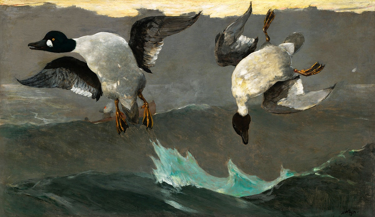 Right and Left (1909) by Winslow Homer. Original from The National Gallery of Art. Digitally enhanced by rawpixel.
