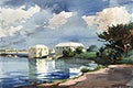 """Salt Kettle, Bermuda (1899) by <a href=""""https://www.rawpixel.com/search/Winslow%20Homer?sort=curated&amp;page=1&amp;topic_group=_my_topics"""">Winslow Homer</a>. Original from The National Gallery of Art. Digitally enhanced by rawpixel."""