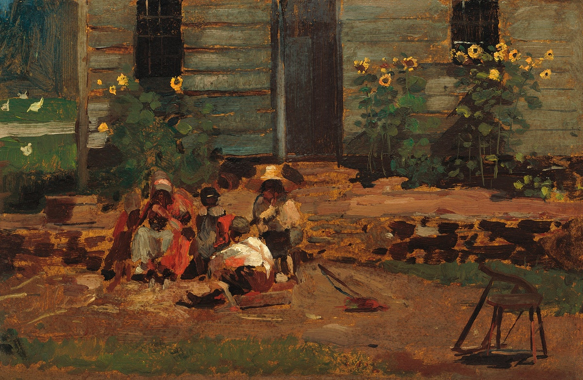 Sketch of a Cottage Yard (ca.1876) by Winslow Homer. Original from The National Gallery of Art. Digitally enhanced by…