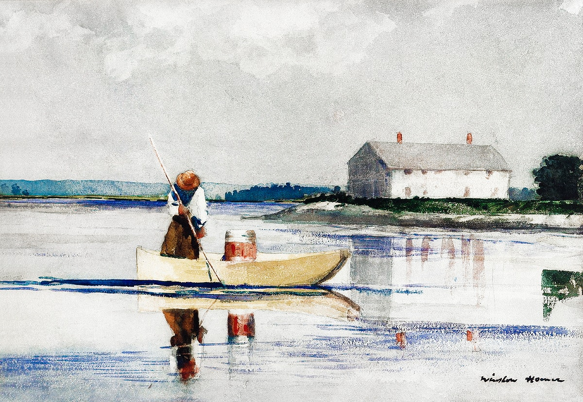 Spearing Eels in late 1800s by Winslow Homer. Original from The Cleveland Museum of Art. Digitally enhanced by rawpixel.
