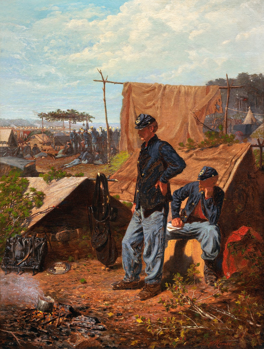 Home, Sweet Home (ca.1863) by Winslow Homer. Original from The National Gallery of Art. Digitally enhanced by rawpixel.