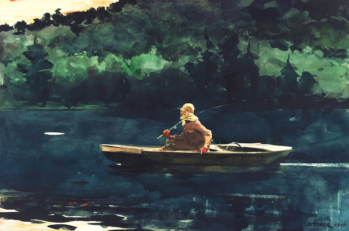 The Rise (1900) by Winslow Homer. Original from The National Gallery of Art. Digitally enhanced by rawpixel.