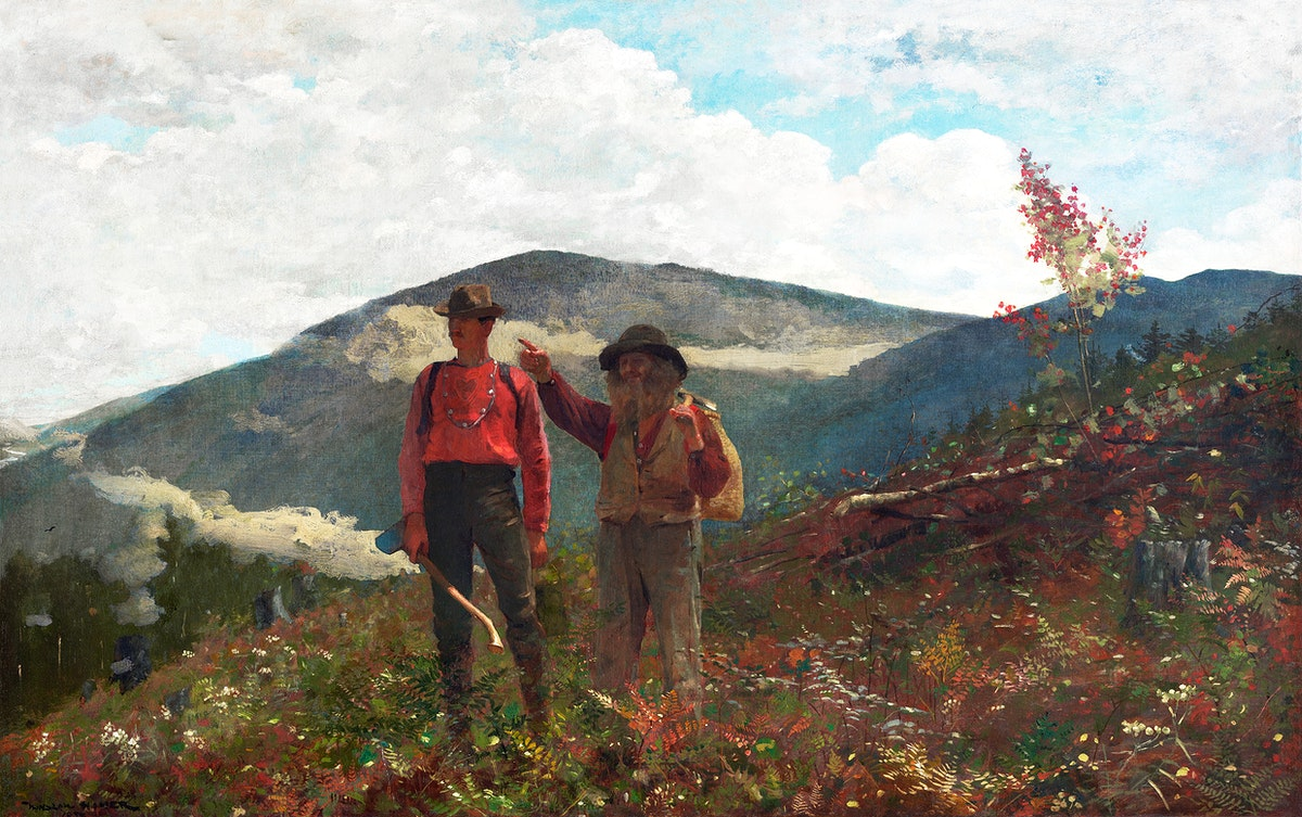 Two Guides (1877) by Winslow Homer. Original from The Clark Art Institute. Digitally enhanced by rawpixel.