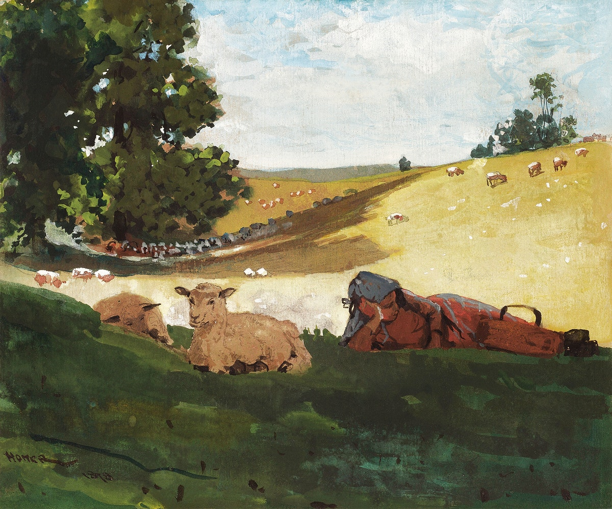 Warm Afternoon (1878) by Winslow Homer. Original from The National Gallery of Art. Digitally enhanced by rawpixel.