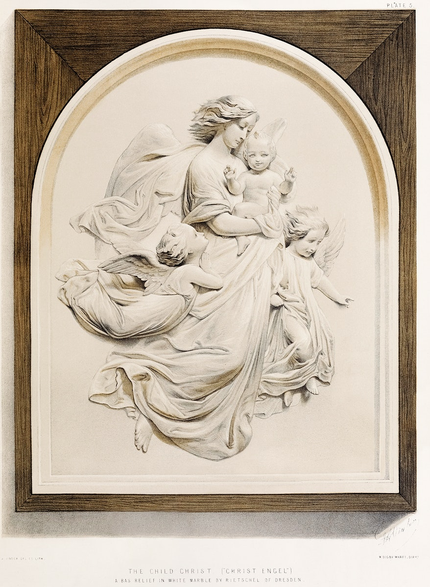 Child Christ from the Industrial arts of the Nineteenth Century (1851-1853) by Sir Matthew Digby wyatt (1820-1877).