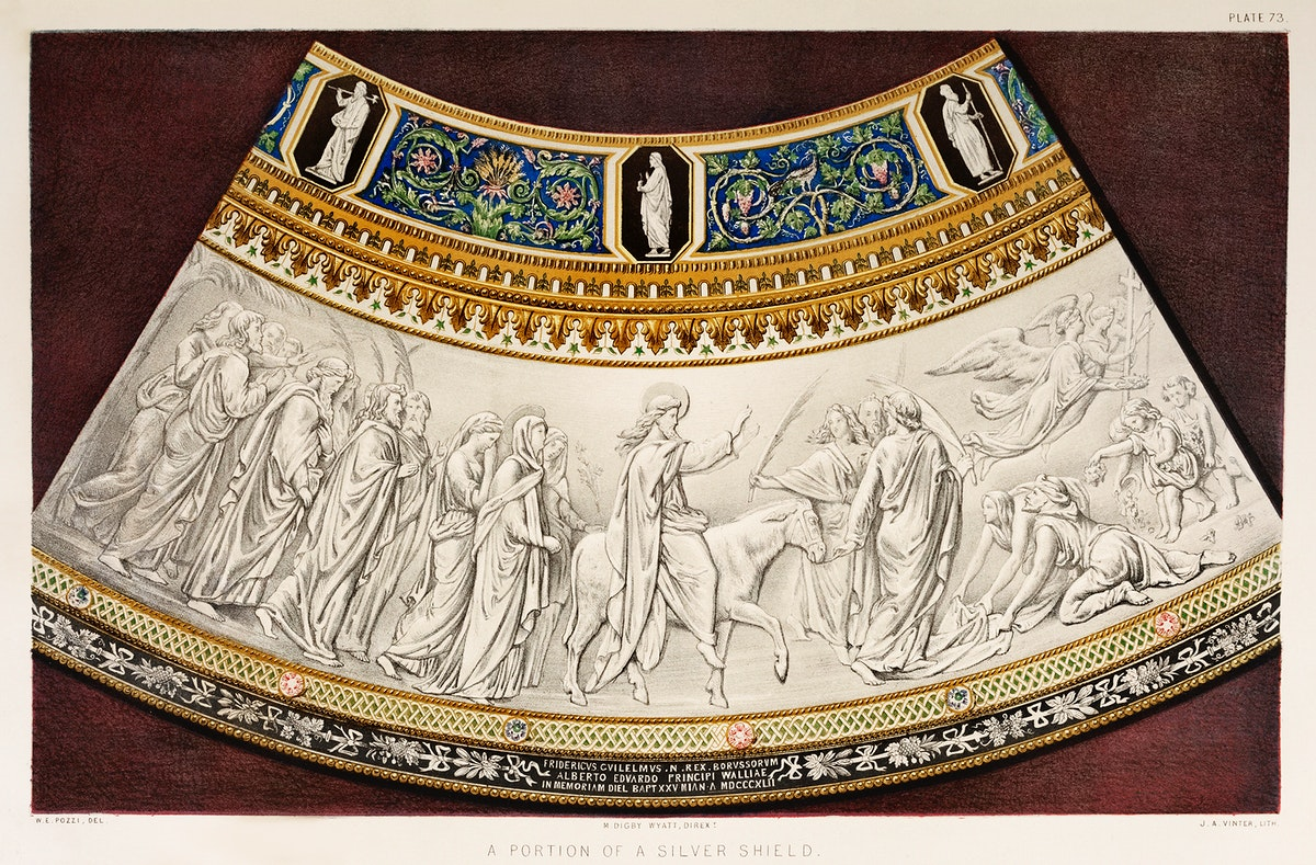 Portion of a silver shield from the Industrial arts of the Nineteenth Century (1851-1853) by Sir Matthew Digby wyatt (1820…