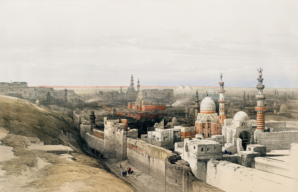 Looking west in Cairo illustration by David Roberts (1796–1864). Original from The New York Public Library. Digitally…