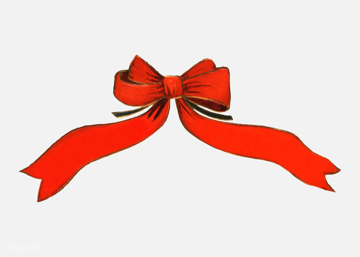Red Christmas Bows Free Stock Vector 556923
