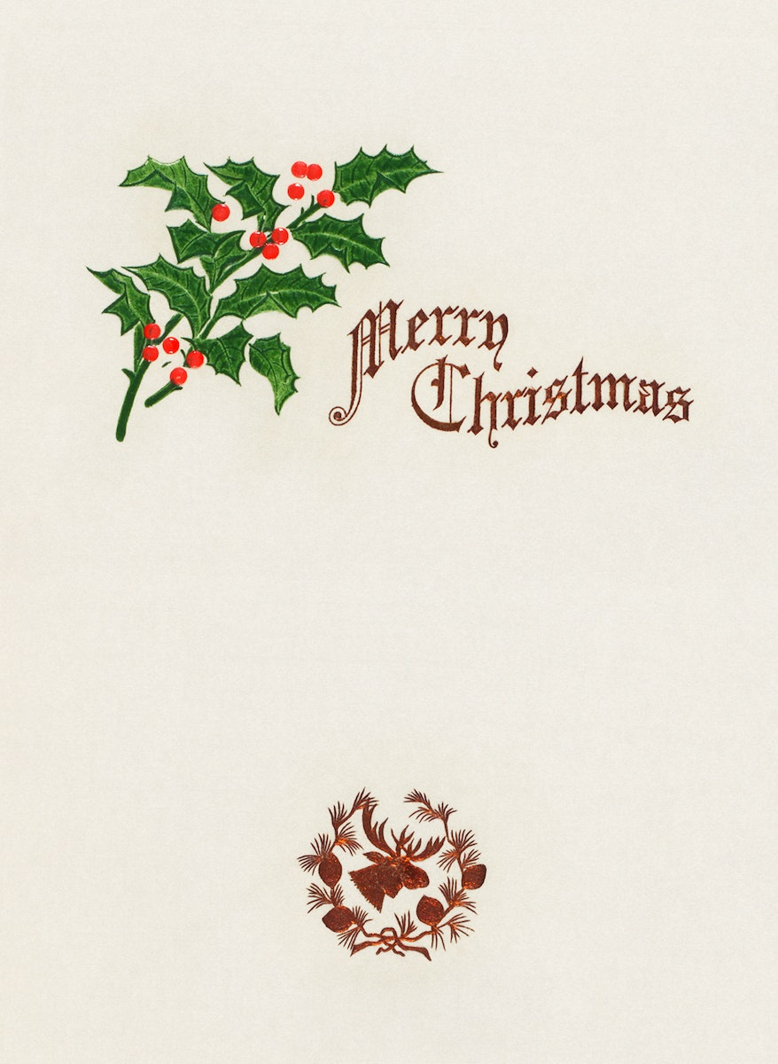 Christmas dinner held by west end hotel at Portland, ME from (1905) The Buttolph collection of menus. Original from the New…