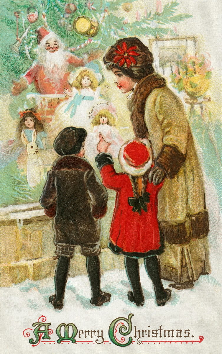 A Merry Christmas (1912) from The Miriam and Ira D. Wallach Division of Art, Prints and Photographs: Picture Collection by…