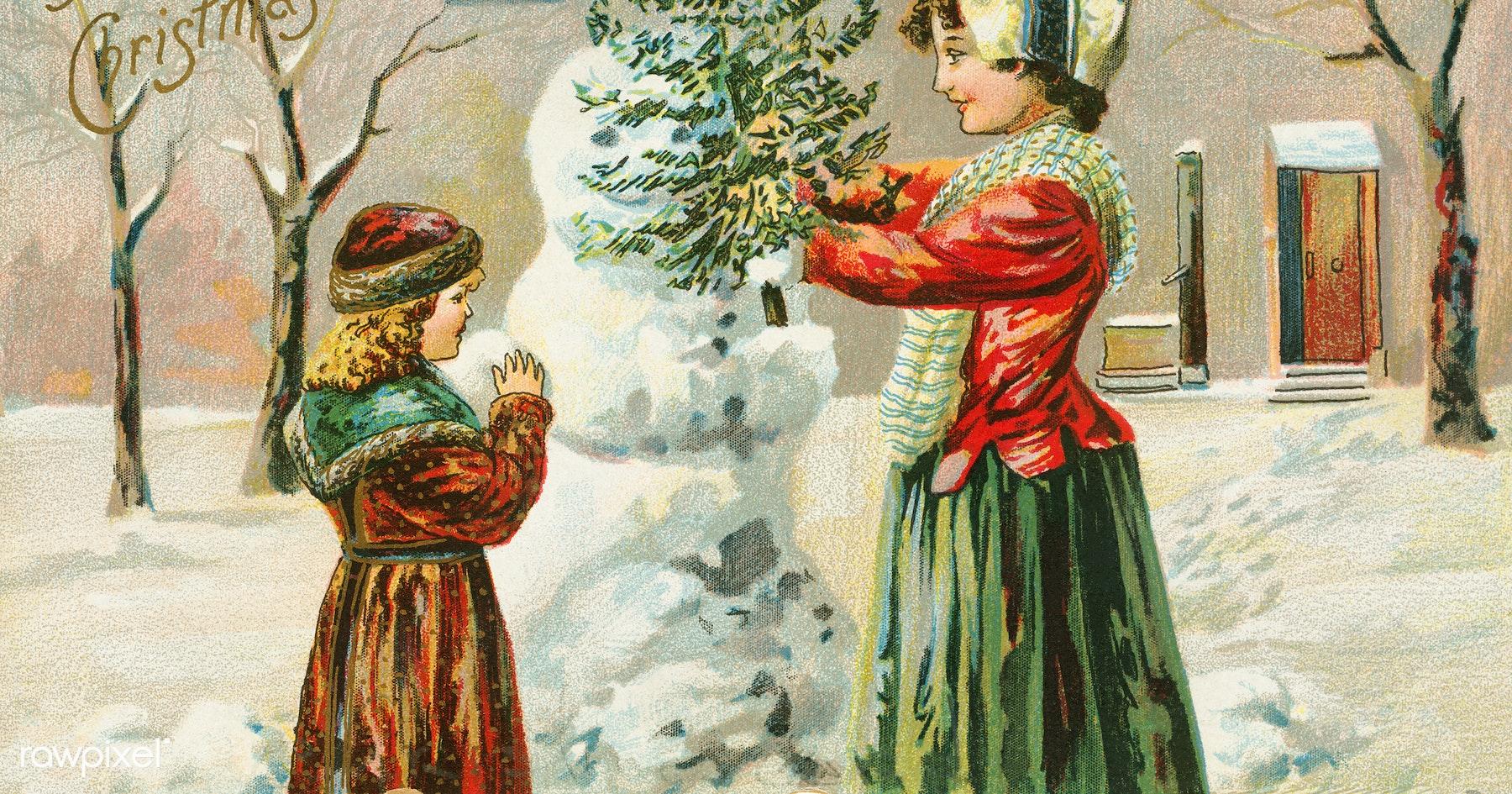 Хоккеисту днем, рождество открытки 18 век
