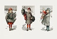 """Christmas card depicting children and holly from The Miriam and Ira D. Wallach Division of Art, Prints and Photographs: Picture Collection published by <a href=""""https://www.rawpixel.com/search/L.%20Prang%20%26%20Co?sort=curated&amp;page=1"""">L. Prang &amp; Co</a>. Original from the New York Public Library. Digitally enhanced by rawpixel."""