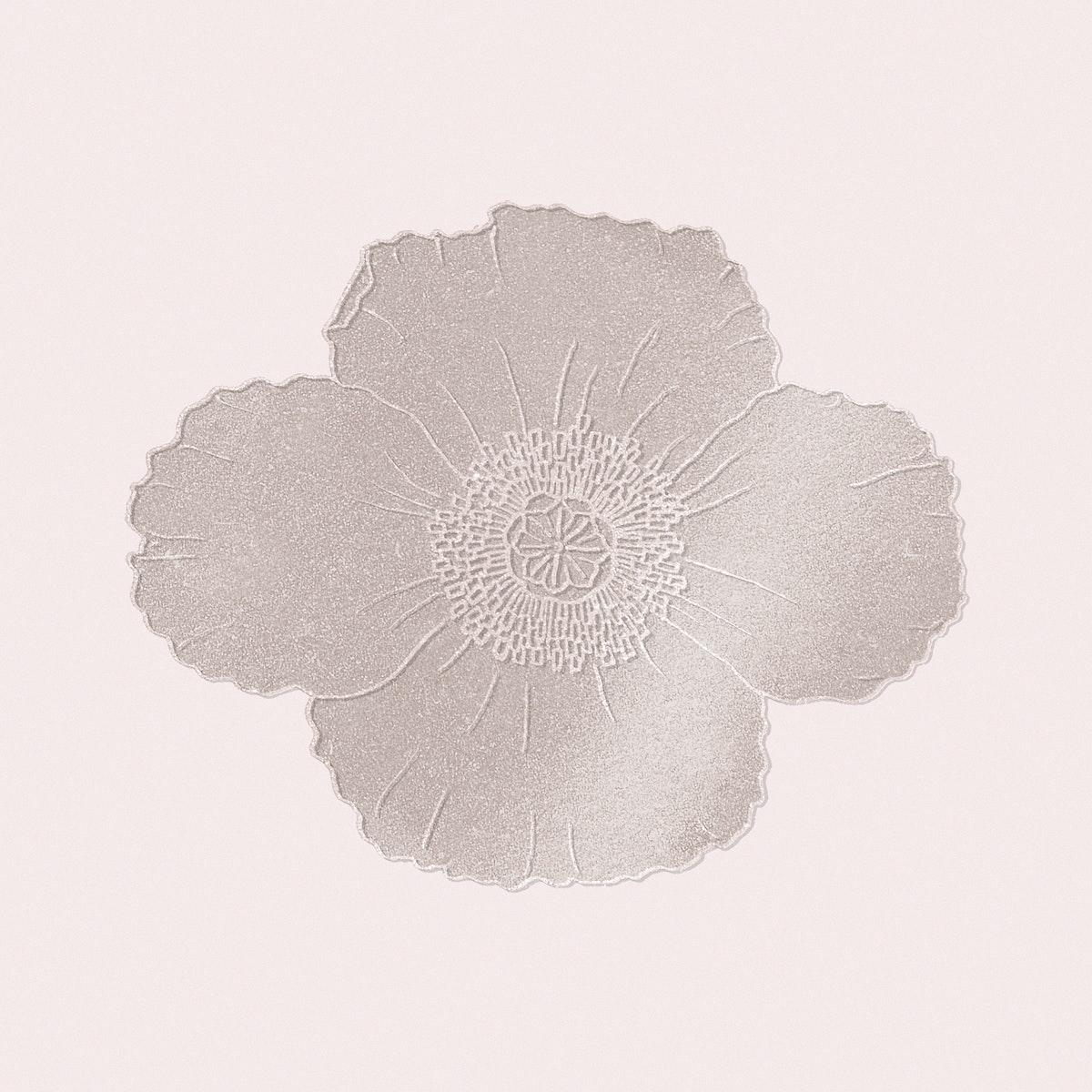 Shiny poppy flower design element