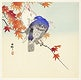 """Two pigeons on autumn branch (1900 - 1936) by <a href=""""https://www.rawpixel.com/search/Ohara%20Koson?sort=curated&amp;page=1"""">Ohara Koson</a> (1877-1945). Original from The Rijksmuseum. Digitally enhanced by rawpixel."""