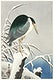 """Heron in snow (1920 - 1930) by <a href=""""https://www.rawpixel.com/search/Ohara%20Koson?sort=curated&amp;page=1"""">Ohara Koson</a> (1877-1945). Original from The Rijksmuseum. Digitally enhanced by rawpixel."""