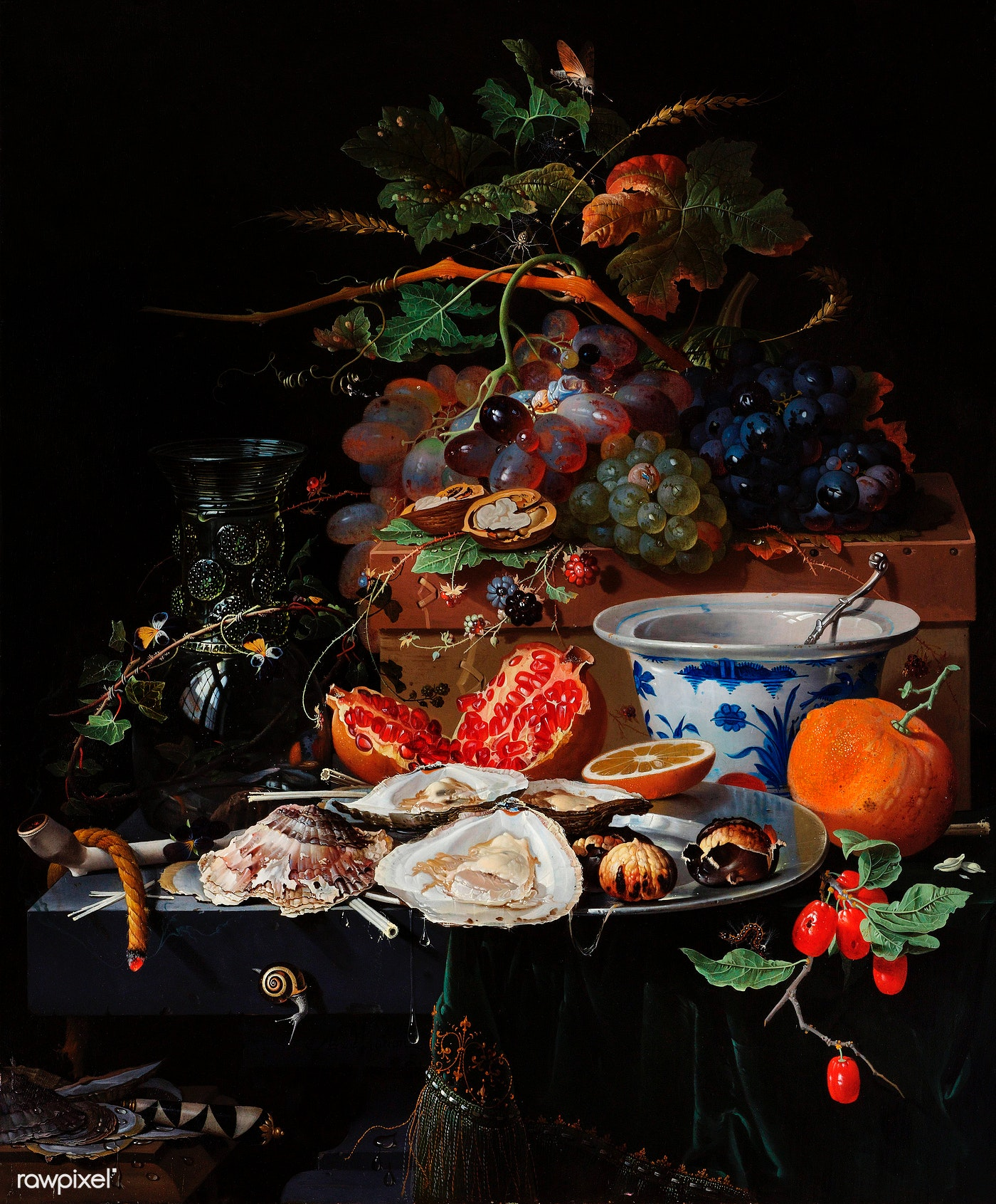 Fruits And Oysters By Abraham Mignon 1660 Free
