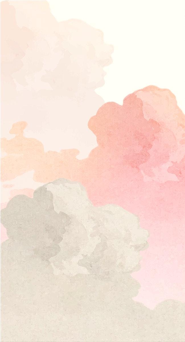 Vintage cloud illustration vector