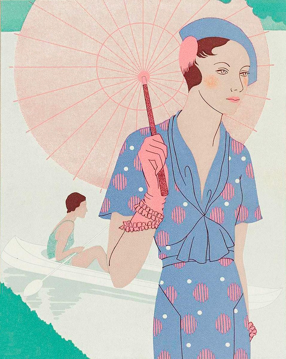 Art - Taste - Beauty, Leaves of Feminine Elegance, June 1932, No. 142, Grade 12 b y M. Renaud (1932). Original from The…