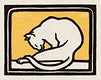 """A waxing cat (1918) by <a href=""""https://www.rawpixel.com/search/Julie%20de%20Graag?sort=curated&amp;page=1"""">Julie de Graag</a> (1877-1924). Original from The Rijksmuseum. Digitally enhanced by rawpixel."""