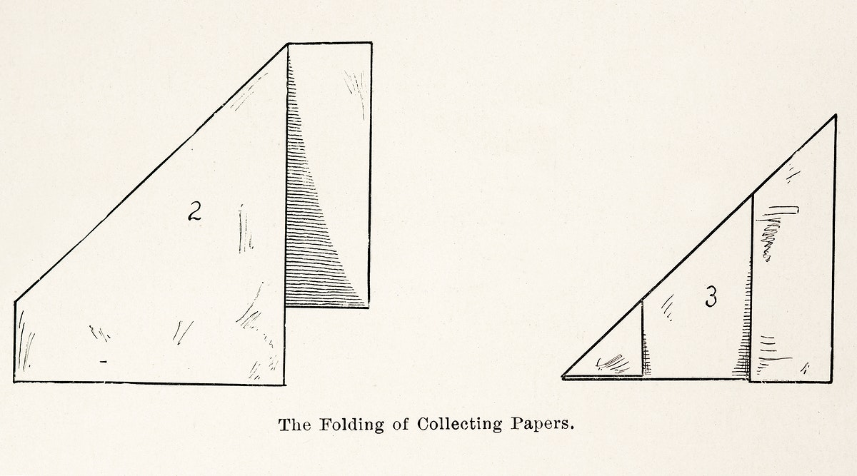 The Folding of Collecting Papers from Moths and butterflies of the United States (1900) by Sherman F. Denton (1856-1937).…