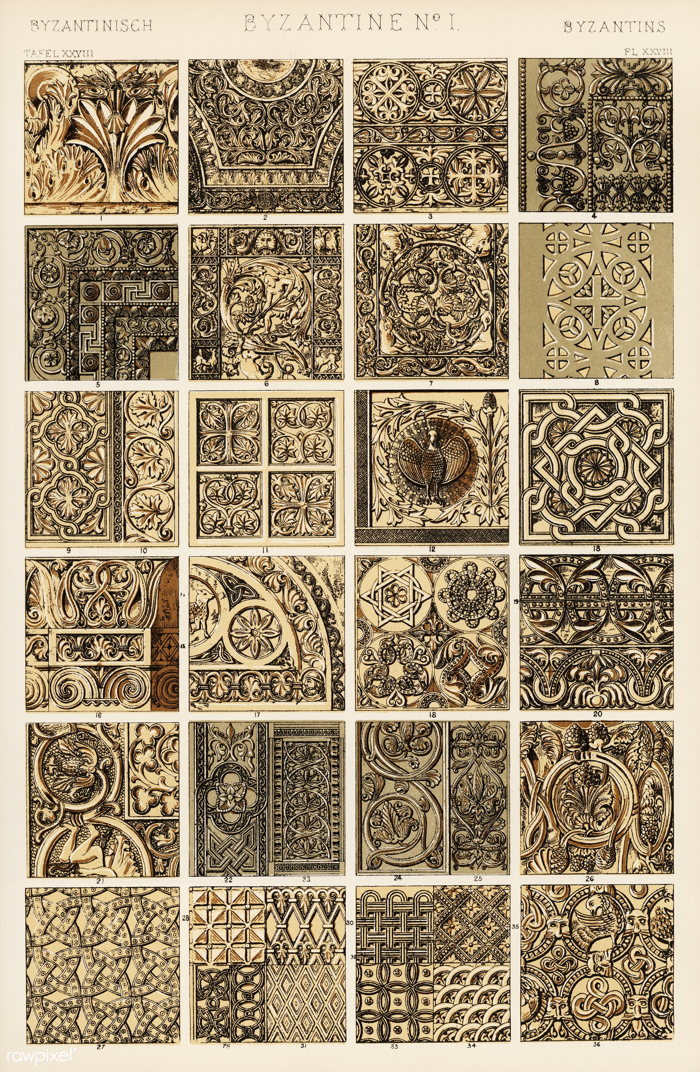 Owen Jones famous 19th Century Grammar of Ornament. One of the finest graphic design books ever produced. From our own...