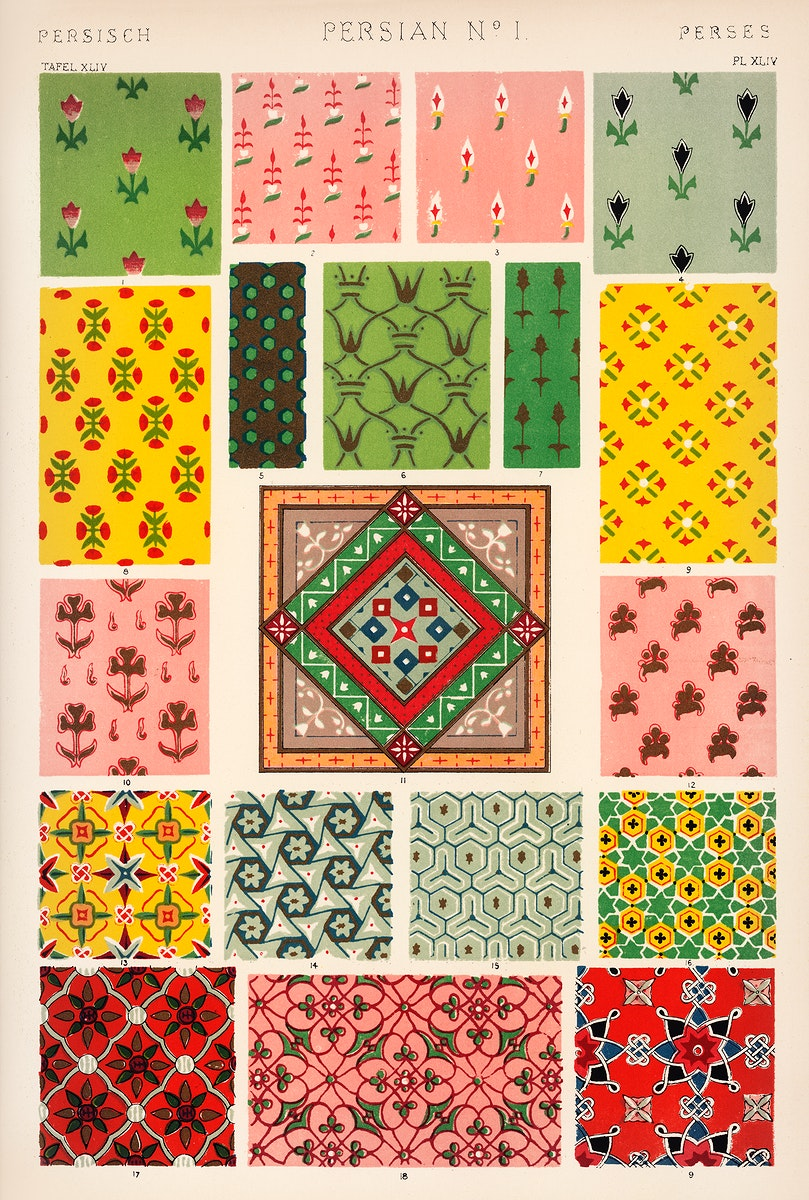 Owen Jones famous 19th Century Grammar of Ornament. One of the finest graphic design books ever produced. From our own…