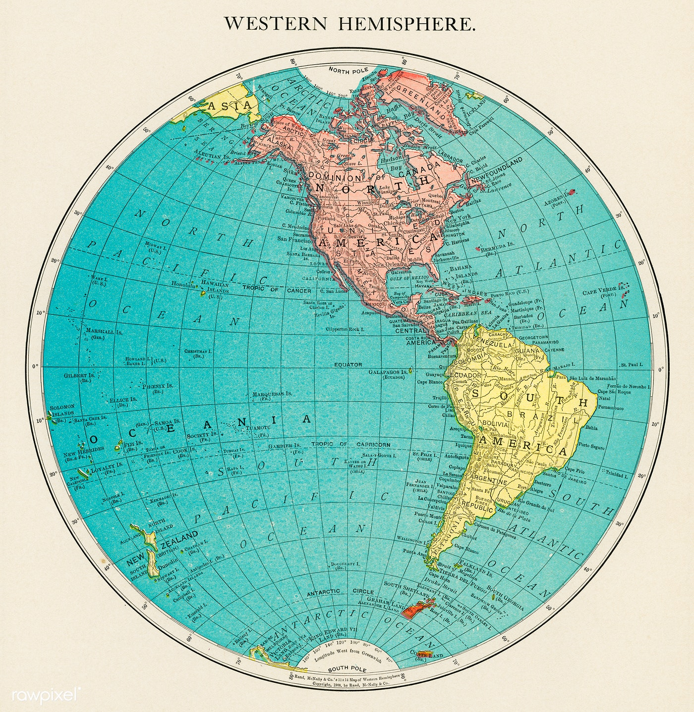 Map Of The Western Hemisphere Free Public Domain
