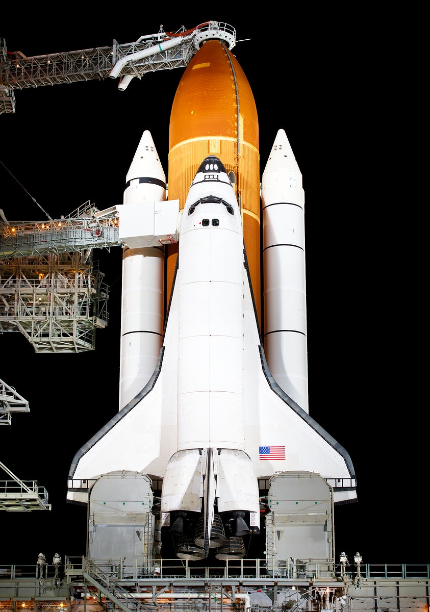 The space shuttle Endeavour is seen on launch pad 39a at Kennedy Space Center in Cape Canaveral, Fla, Thursday, April 28…