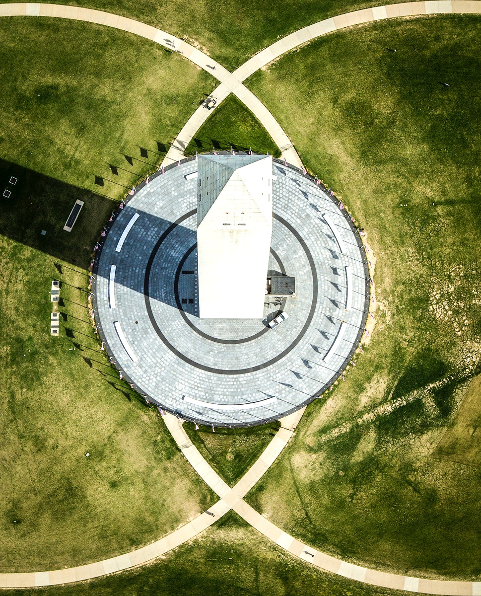 Aerial view of the Washington Monument in Washington.Original from NASA. Digitally enhanced by rawpixel.