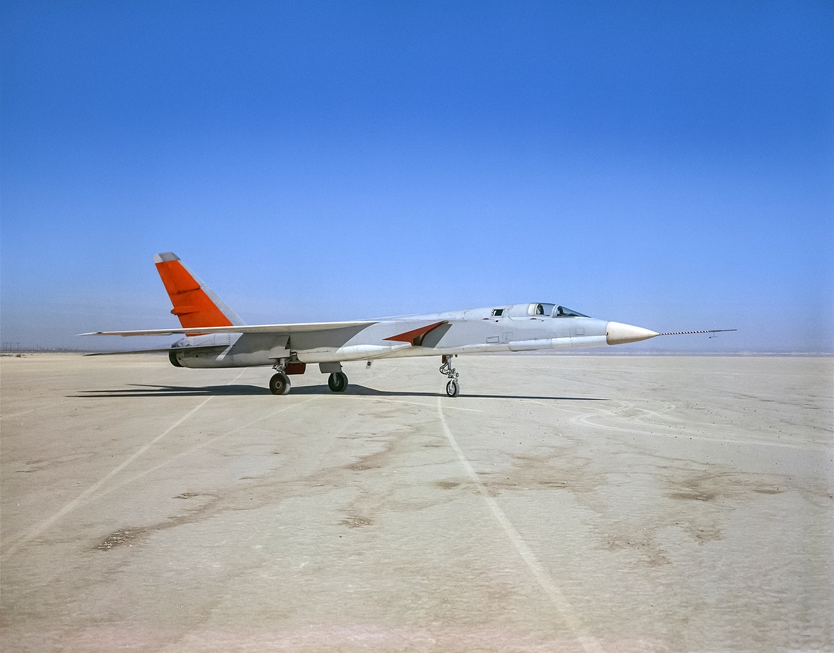 North American Aviation A-5A Vigilante arrived from the Naval Air Test Center to the NASA Flight Research Center. Original…