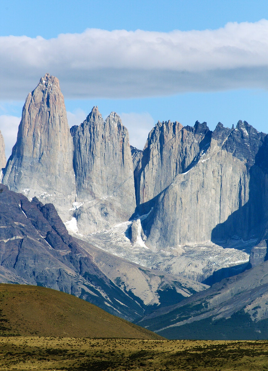 The Cuernos del Paine mountains in Torres del Paine National Park in Chile. Original from NASA. Digitally enhanced by…
