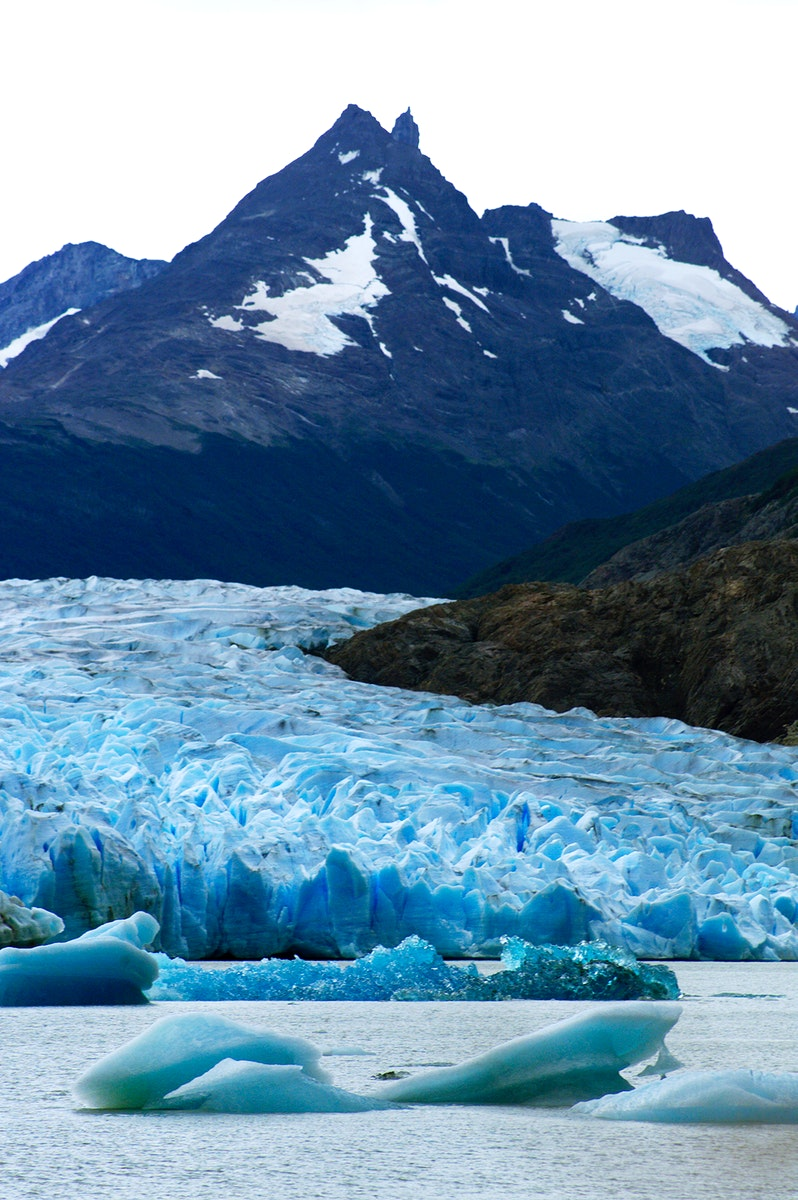 Glacier Grey in front of The Cuernos del Paine mountains in Chile. Original from NASA. Digitally enhanced by rawpixel.