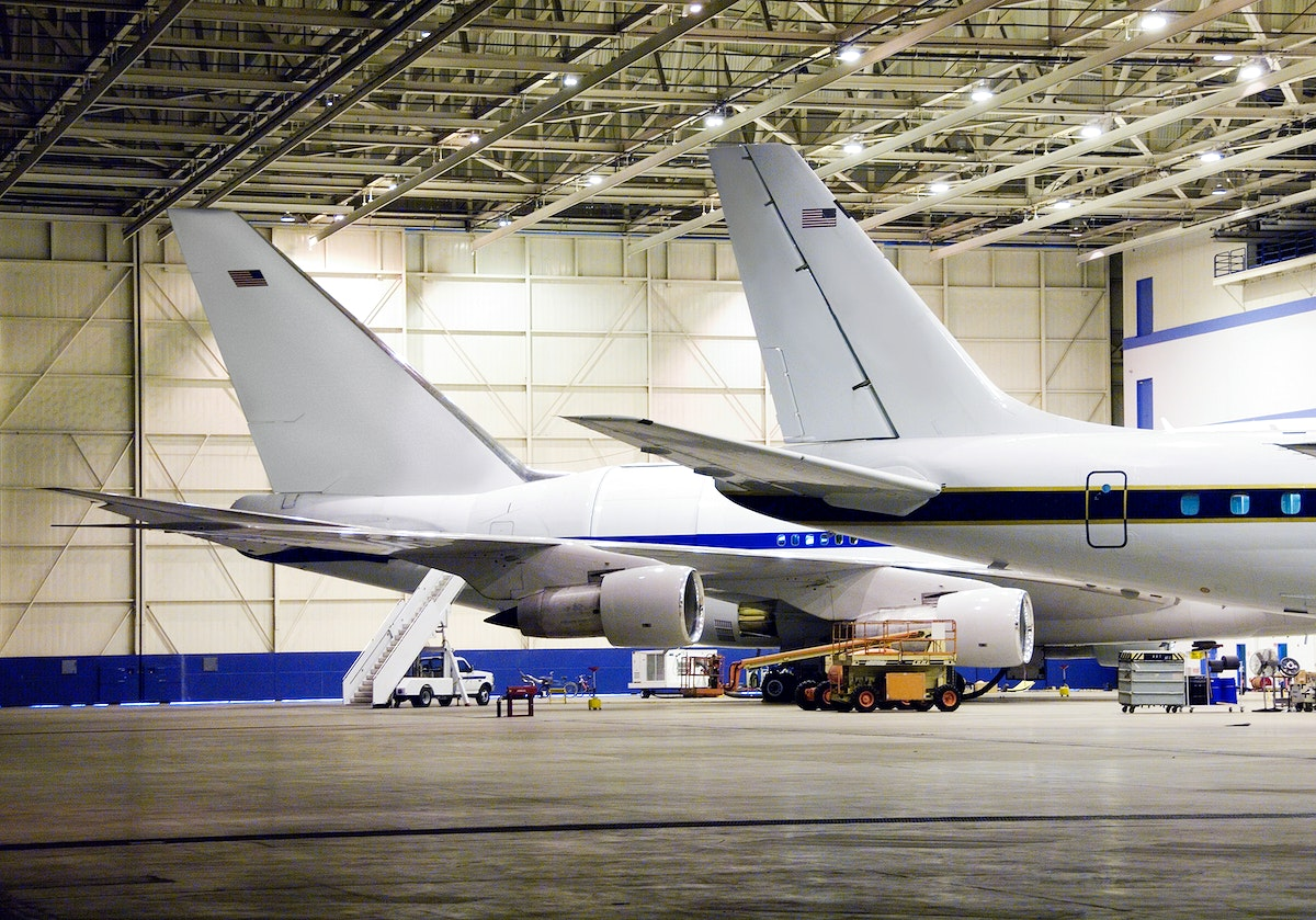 Two large science aircraft, a DC-8 flying laboratory and the SOFIA 747SP based at NASA's Dryden Aircraft Operations Facility…
