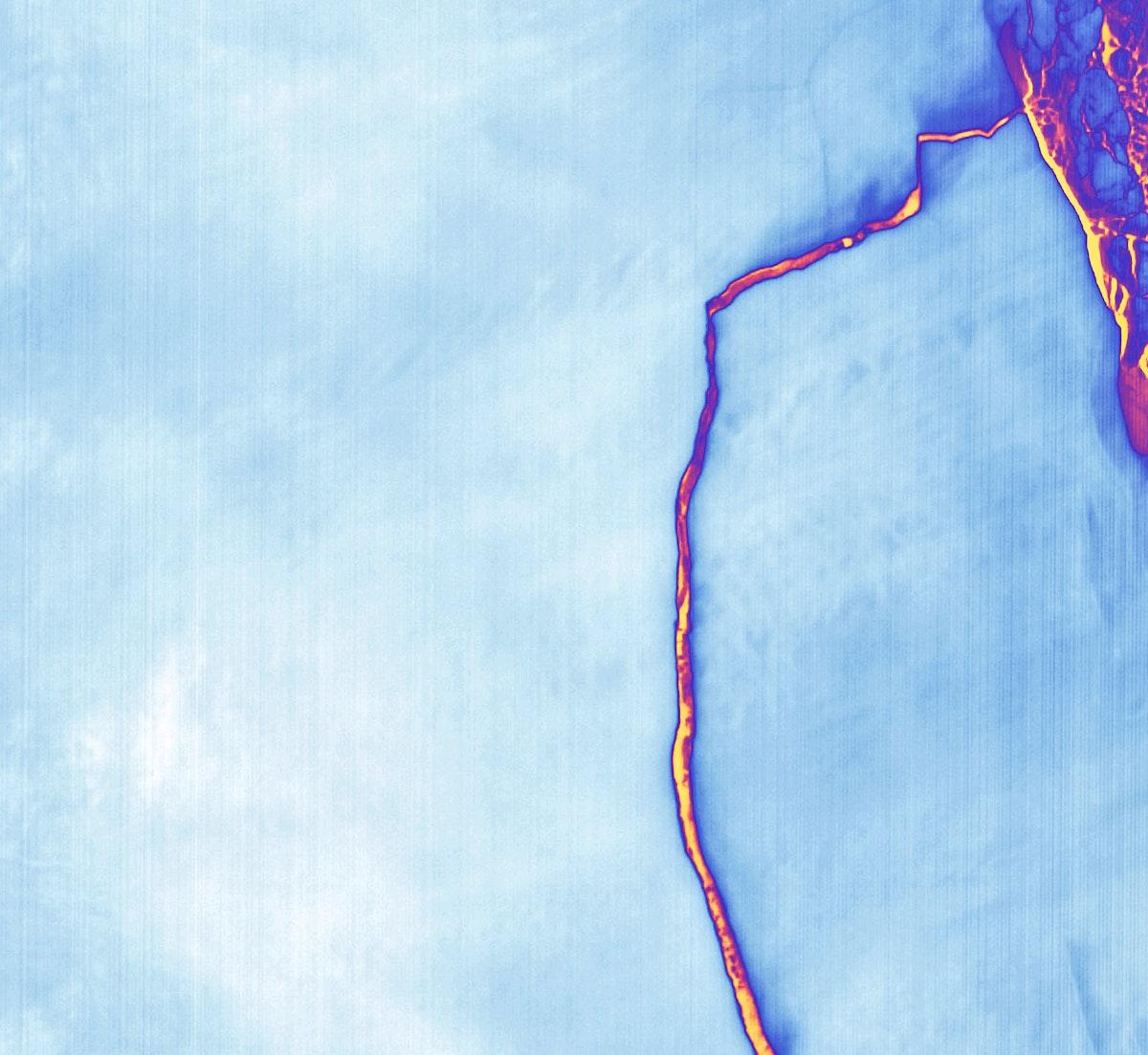 Massive Iceberg Breaks Off from Antarctica. Original from NASA. Digitally enhanced by rawpixel.