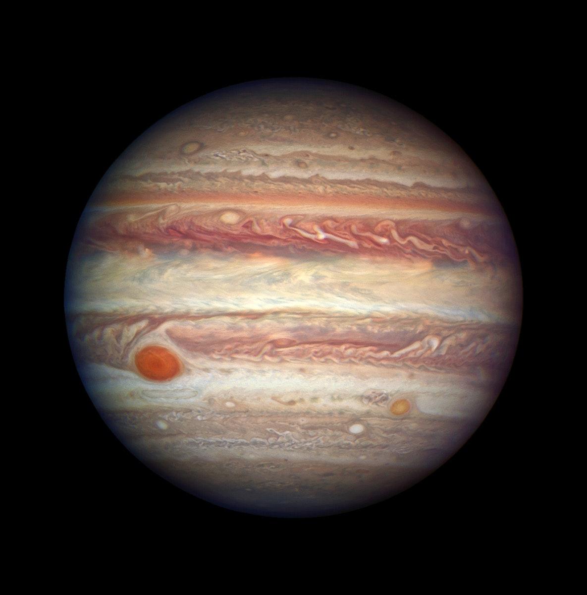 NASA's Hubble Takes Close-up Portrait of Jupiter on April 3, 2017. Original from NASA. Digitally enhanced by rawpixel.